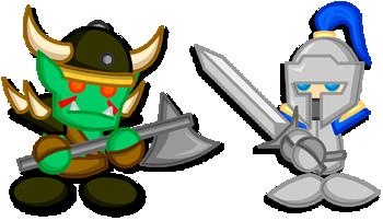 Chibi Warcraft Grunt + Footman by LegendaryFrog