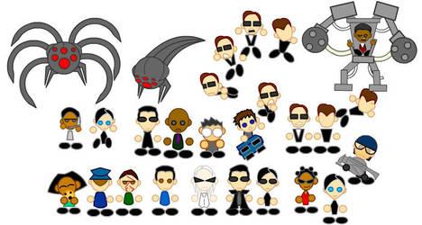 Matrix Chibis by LegendaryFrog