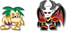 Chibi Warcraft 3: Ghoul + Dreadlord by LegendaryFrog