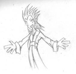 Scraps: KH2 Axel by LegendaryFrog