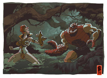 Teela and Clawful by nelsondaniel