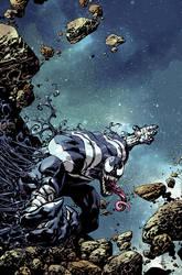Venom the Spaceknight cover 10 Color by nelsondaniel