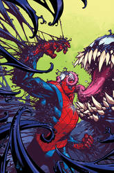 Venom the Spaceknight cover 12 Color by nelsondaniel