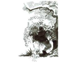Inktober. Swamp Thing by nelsondaniel