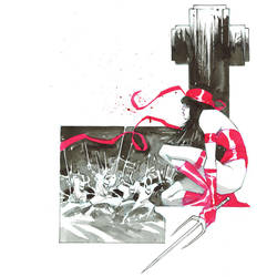 Inktober. Elektra by nelsondaniel