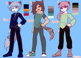 [OPEN] Kemonomimi Boy Adopts [ Points Only ] by Pffycat