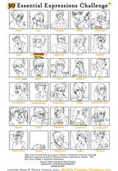 30 Expressions Challenge by Shi-Yin