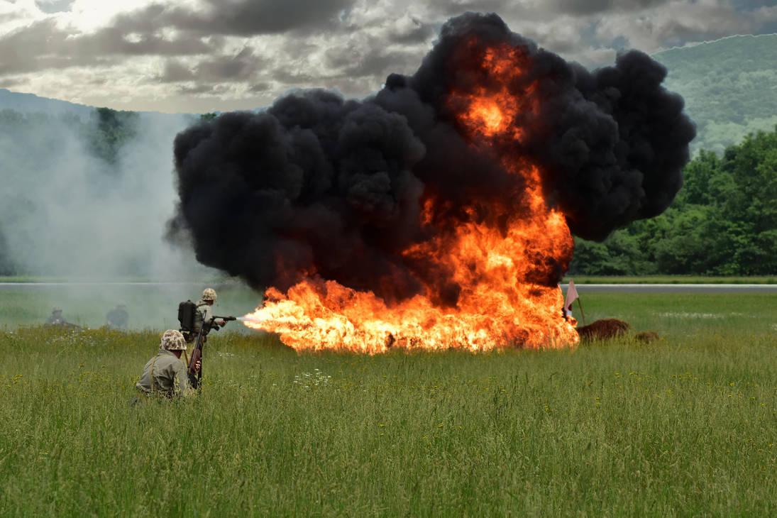 Flame Thrower Demo by Hero-Ritsuka