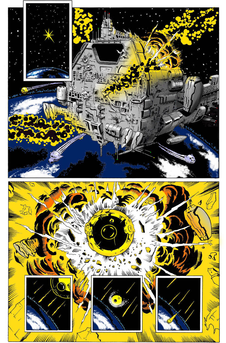 Space Explosion Colors by Bienvenu