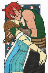 Narya and Robin Kiss by LeonandClaireBSAA