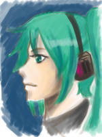 Daily Head Practice - Miku by cyrusHisa