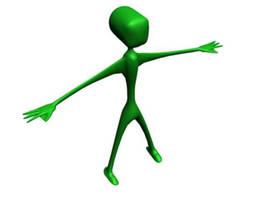 3D alien body by bangerbishop