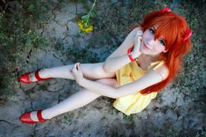 Asuka Langley Yellow Sundress Cosplay - NGE by SailorMappy