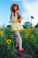 Asuka Yellow Sundress Cosplay - Evangelion by SailorMappy