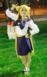 Usagi Tsukino High School Uniform Cosplay by SailorMappy