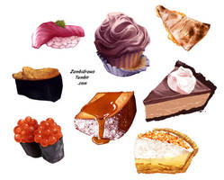 Painty foods by zambicandy