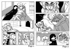 Comic pages by zambicandy