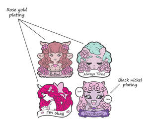 New pin design preorders by zambicandy