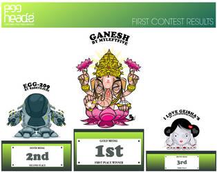 Contest No.1 Winners by EggHeadz
