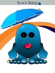 EggHeadz: Beach Bunny by EggHeadz