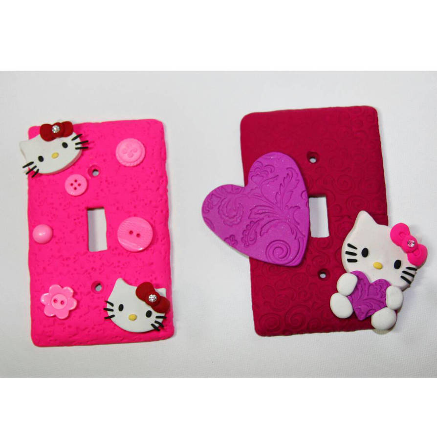 Hello Kitty Polymer Clay Light Switch Covers By Logazorcreative On