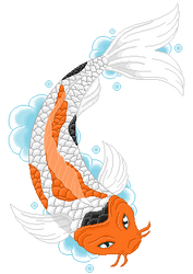 Koi Pixel [Free to Use] by RedFoxClover