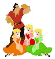 Gaston and the Bimbettes by princERICharming