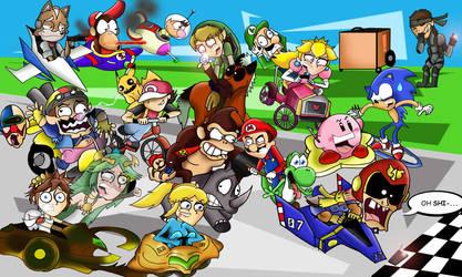 Super Dash Bros. Grand Prix by xeternalflamebryx