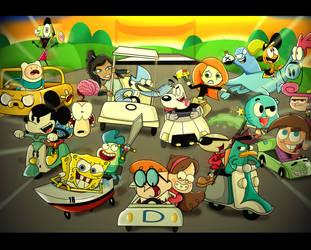 Nickelodeon vs Cartoon Network vs Disney Racing by xeternalflamebryx