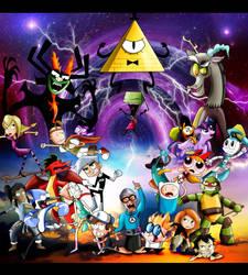 Nickelodeon, Cartoon Network, Disney, Hub Unite! by xeternalflamebryx