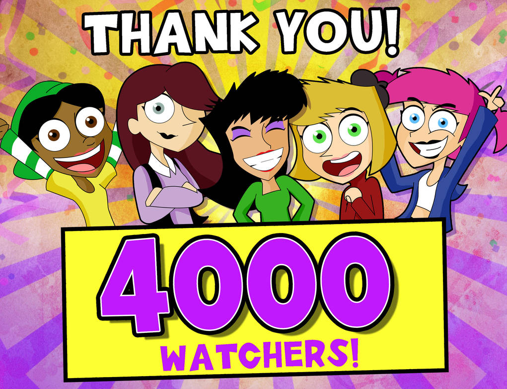 4000 Watcherss Thank You! by xeternalflamebryx