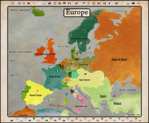 Map Of Europe 1848 By Vincent L On Deviantart