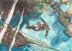ACreed IV Edward Kenway Leap of Faith by Phoenix74n
