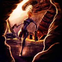 Samus Aran - Zero Suit by endave