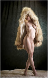 Rachelle Draped in Fur by Magicc-Imagery