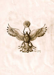 Egyptian scarab by agentcoleslaw