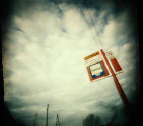 bus stop pinhole by zmysl
