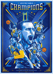 2015 NBA Champions - Golden State Warriors by Ptitecao