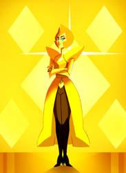 Yellow Diamond by Julesdrawz