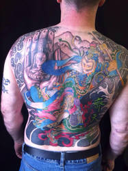 Sun WuKong tattoo by scowlingmonkey
