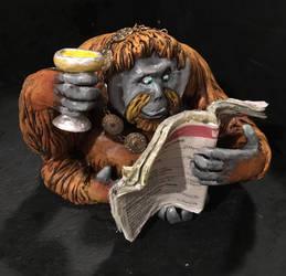 Dave the Orangutan - Mayor of MC1 by scowlingmonkey