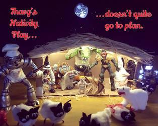 A 2000AD Nativity by scowlingmonkey