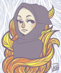 Flame doodle by kurodo-j