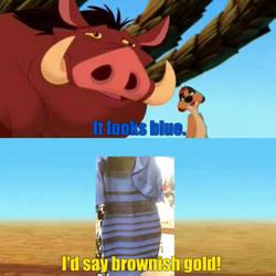 Timon And Pumbaa On The Dress.. by xRandomGurl
