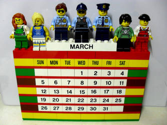My 11th LEGO Build: Brick Calendar #2 by takeshimiranda