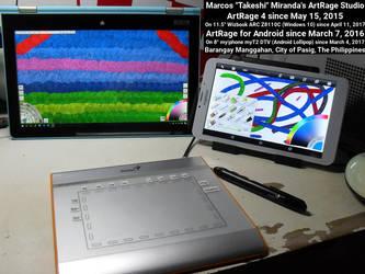 My New Mobile Artrage Art Studio by takeshimiranda