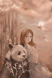 .Panda in love. by NEPi