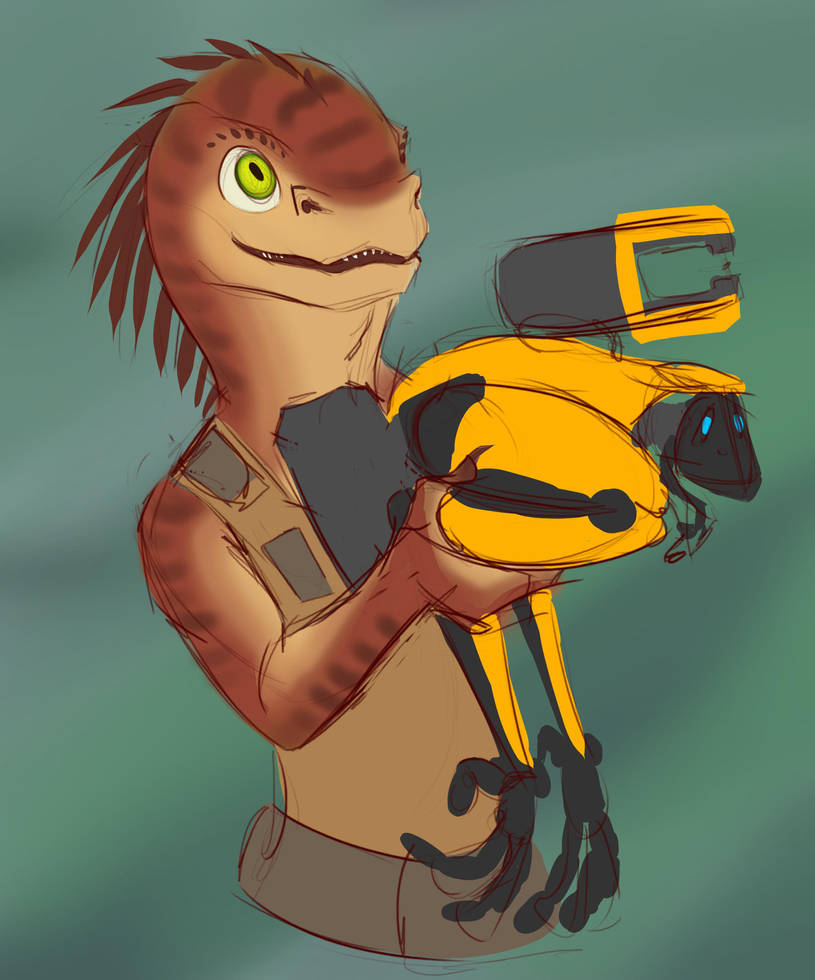 A Gorn with a Plasma Cutter Moa named Djalapi by Tawadi