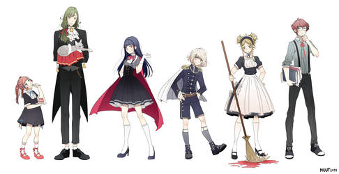 Character designs by nuuti