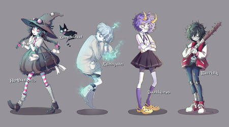Monster character designs by nuuti